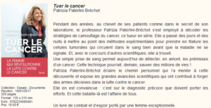 """Tuer le cancer"" – The book by Patrizia Paterlini-Bréchot"